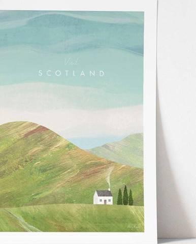 Plakát Travelposter Scotland, A2