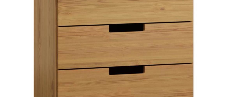 Komoda MODERN NR 2, 100/80/42, masiv borovice, moření: olše