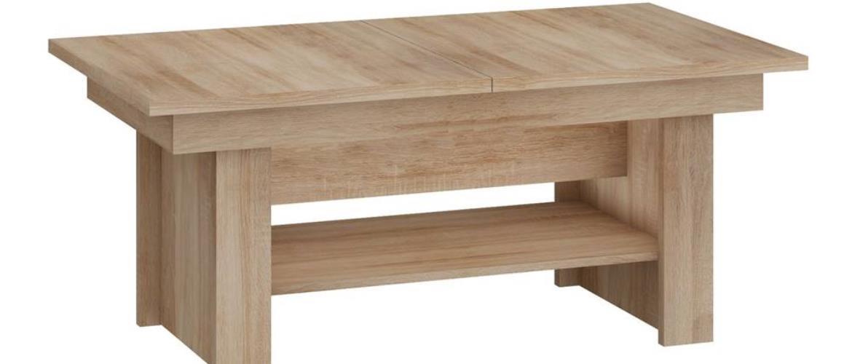 Konferenční stolek MEXICO rozkládací MAT, barva: dub sonoma