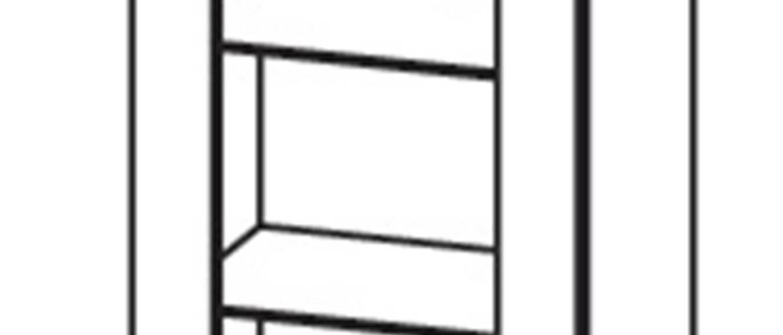 OLDER horní vitrína G40/72 levá, korpus bílá alpská, dvířka trufla mat
