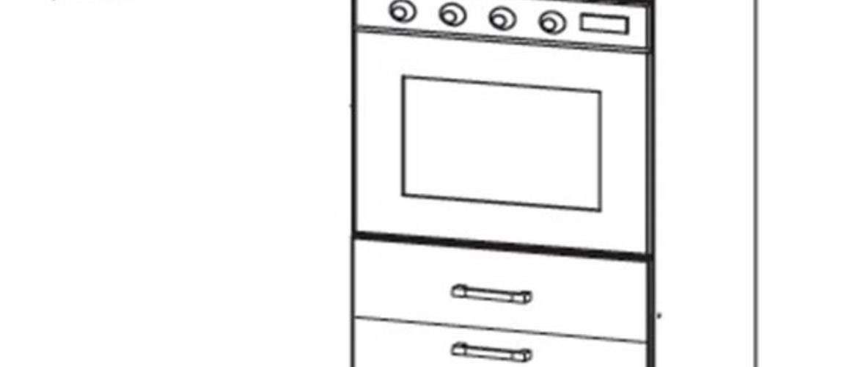 SOLE vysoká skříň DPS60/207 SMARTBOX levá, korpus bílá alpská, dvířka dub arlington