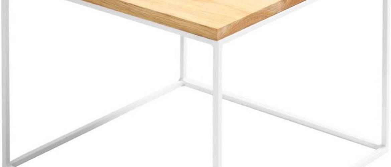 Odkládací stolek s bílou konstrukcí Custom Form Tensio, 50 x 50 cm